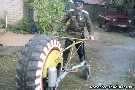 единственный в мире одноколёсный роторный трактор ТОР-12