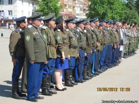 торжественное построение в честь 10-летнего юбилея Бугурусланского казачьего общества